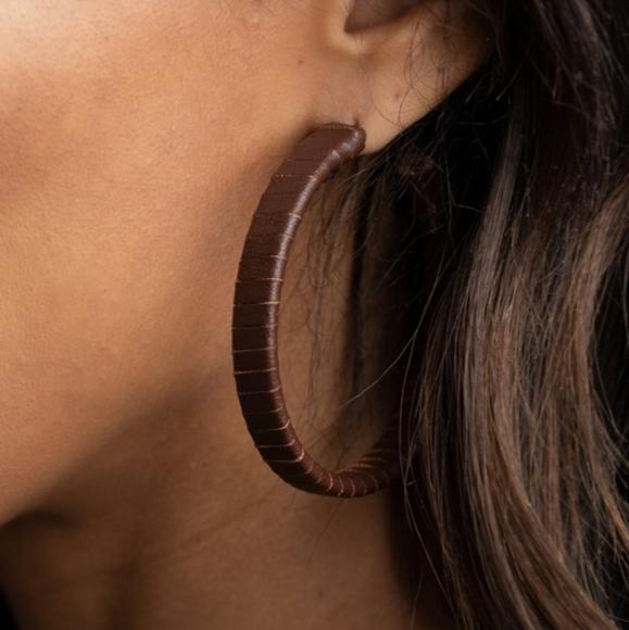 Leather-Clad Legend Earrings
